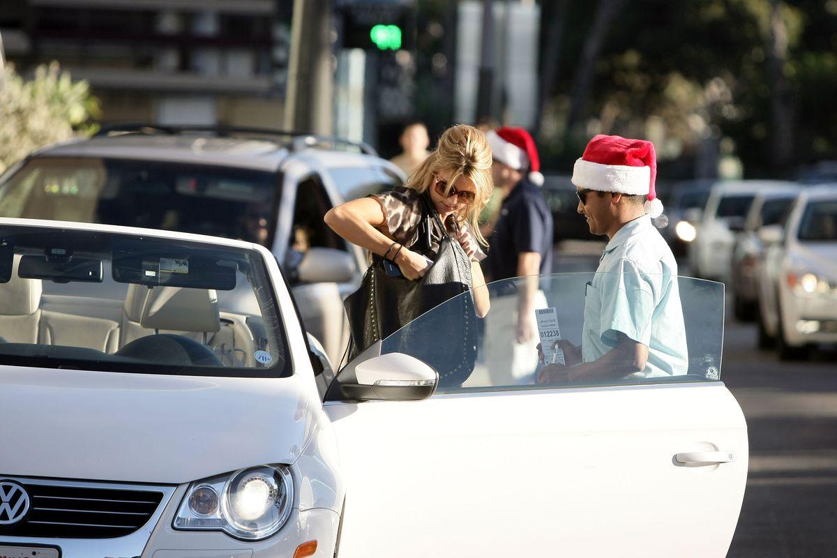 Ali Fedotowsky Holiday Shopping At Santa Monica Place