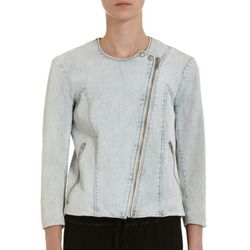"<b>Helmut Lang</b> Denim Jacket, <a href=""http://www.barneys.com/on/demandware.store/Sites-BNY-Site/default/Product-Show?pid=503199578&cgid=womens-jackets&index=14"">$295</a> at Barneys"