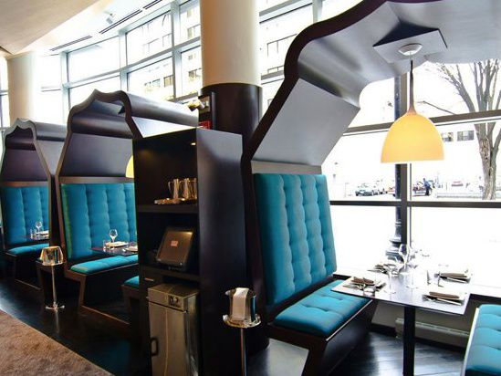 Dramatic booths at Rasika West End