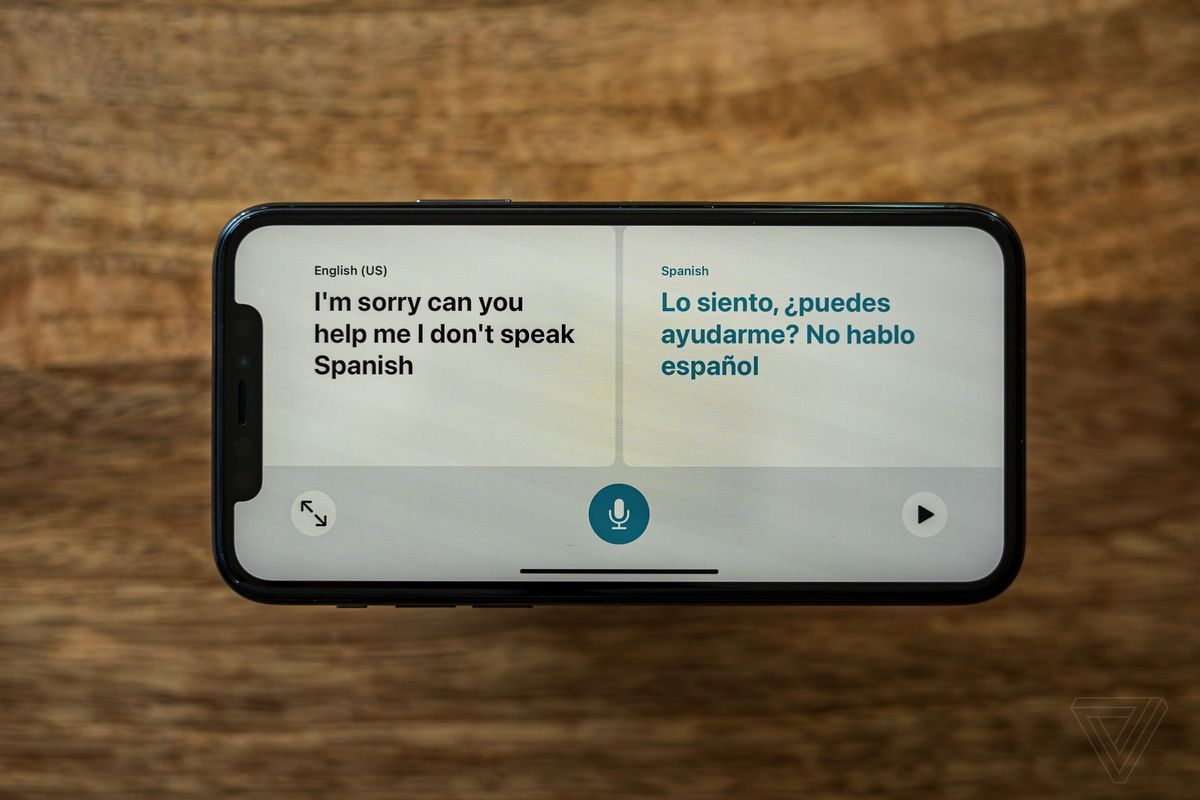 Apple's new translator app