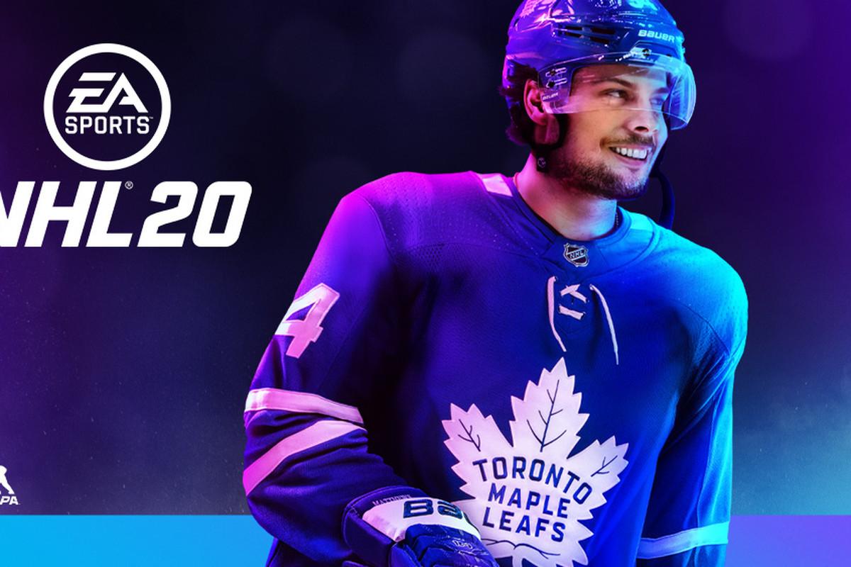 EA Sports NHL20: Maple Leafs Auston Matthews on the cover
