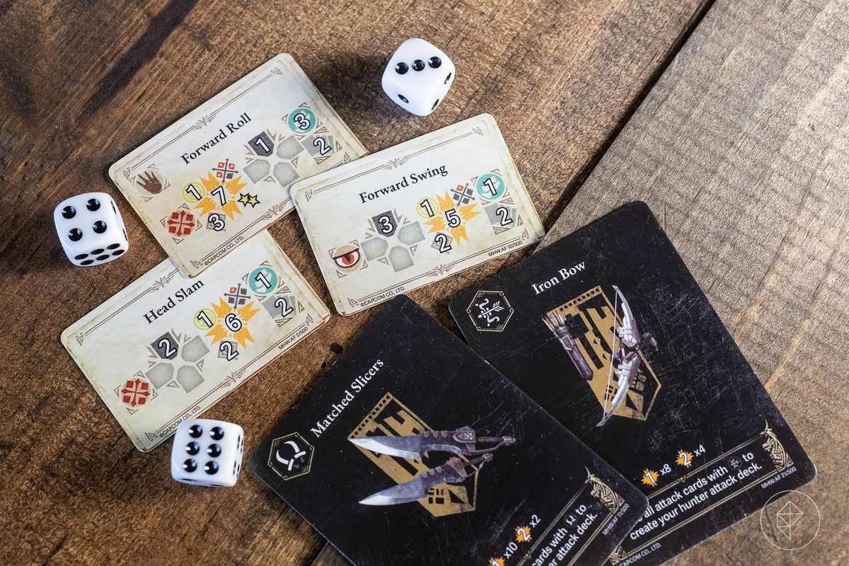 A set of five cards showing weird icons common in the video game, remixed here.