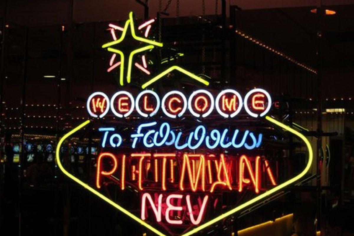 A sign inside the Skyline Casino.