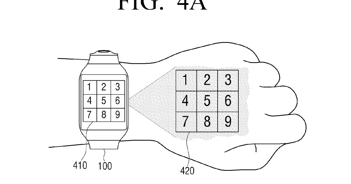 samsung imagines smartwatch that projects a screen onto your hand