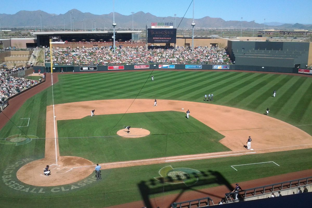 View from the top deck at Salt River Fields