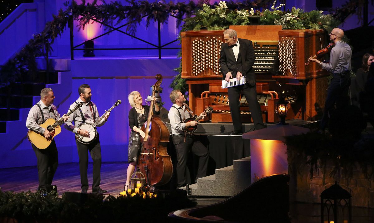 Richard Elliot and Cold Creek perform during a Christmas concert at the Conference Center in Salt Lake City on Thursday, Dec. 12, 2019.