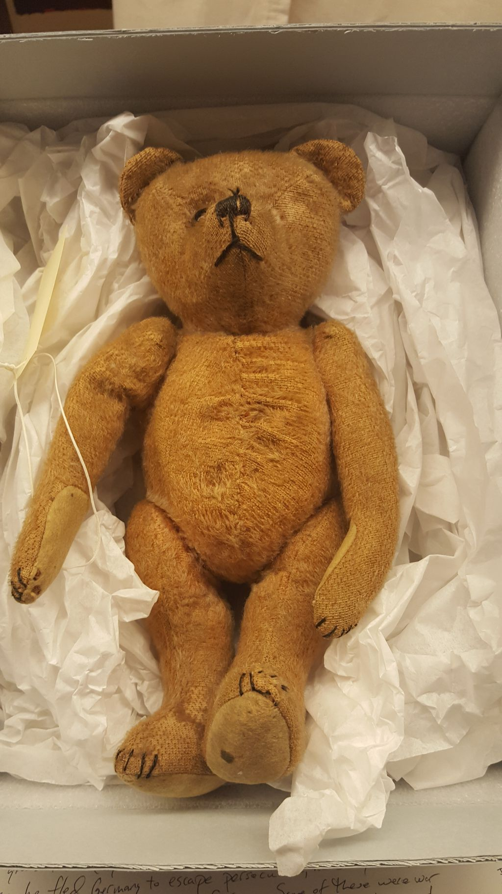 """A teddy bear is one of the many artifacts included in a new exhibit by photographer Jim Lommasson titled """"Stories of Survival: Object, Image, Memory,"""" at the Illinois Holocaust Museum and Education Center.   Miriam Di Nunzio/Sun-Times"""