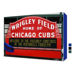 """Even with all the changes coming to Wrigley Field, this personalized <a href=""""http://www.etsy.com/listing/79728519/personalized-wrigley-field-sign-canvas?ref=sr_gallery_4&sref=sr_c921ae5945c866a436be061abe78f73e5f63a8f6fb841a2f3197a7e680c4d245_1367941482_"""