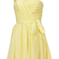 Chiffon Bodice Dress, $170