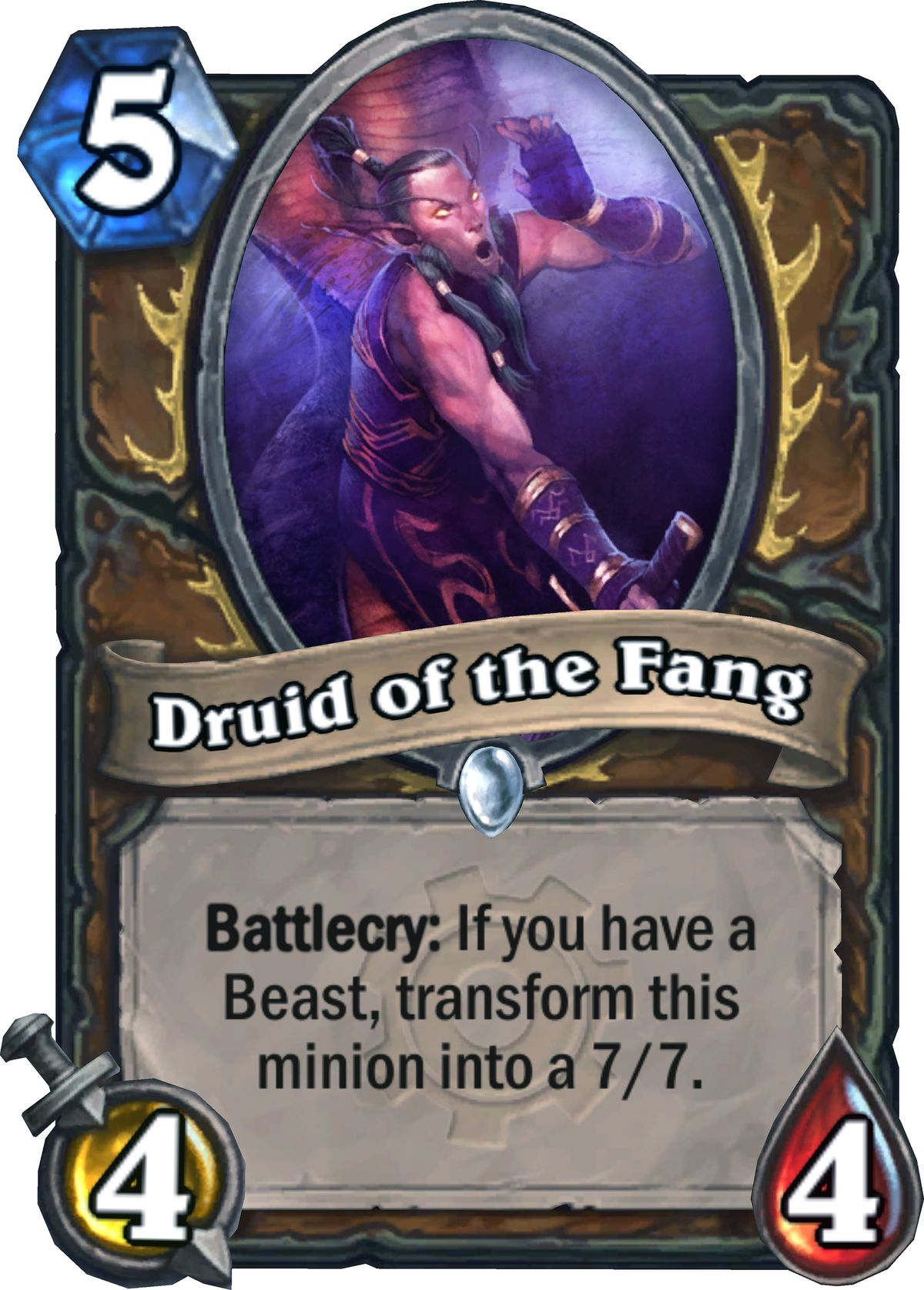 Hearthstone: Goblins vs. Gnomes druid of the fang