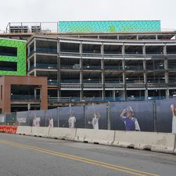 Another view of the new plaza building, from Clark Street