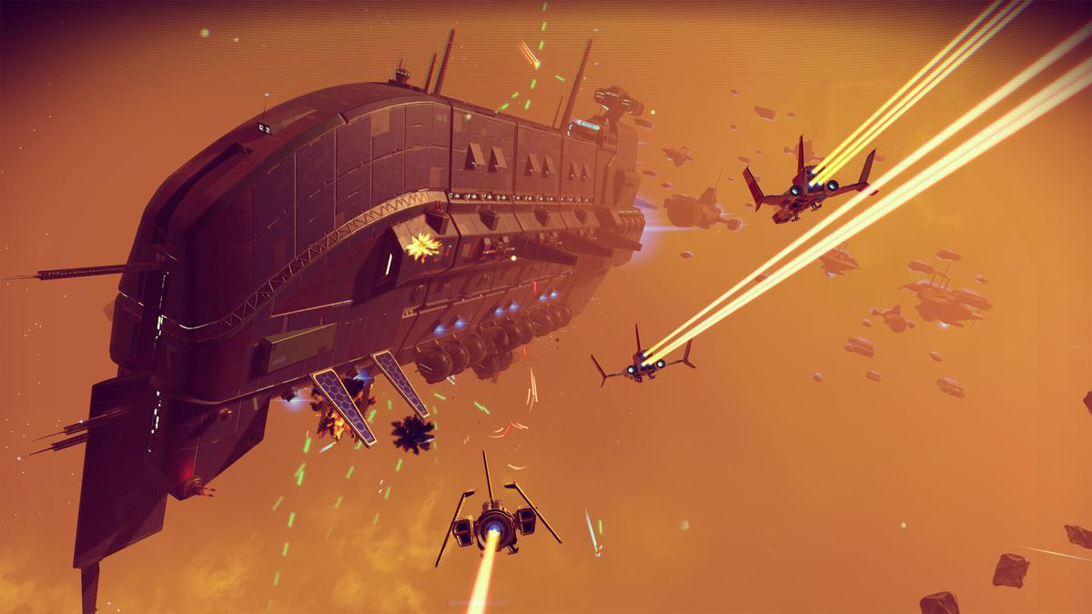 No Man's Sky Foundation Update - freighter and spaceships