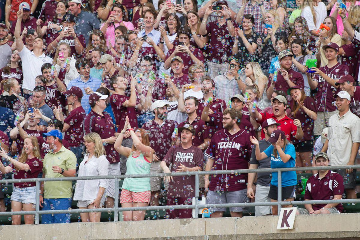 Bubbles fill Olsen at yesterday's game with South Carolina.