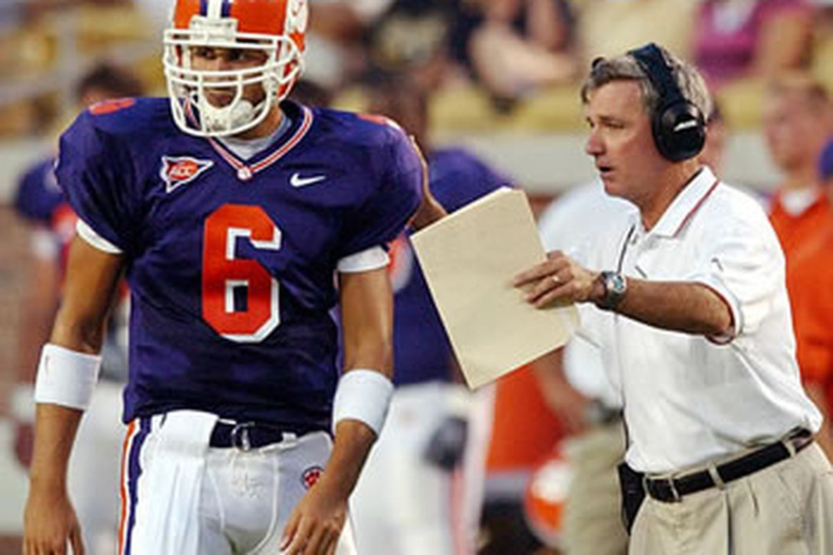 Listen, this is how we're going to lose this game, I only have to get bowl-eligible to keep my job. Clemson fans are so gullible.