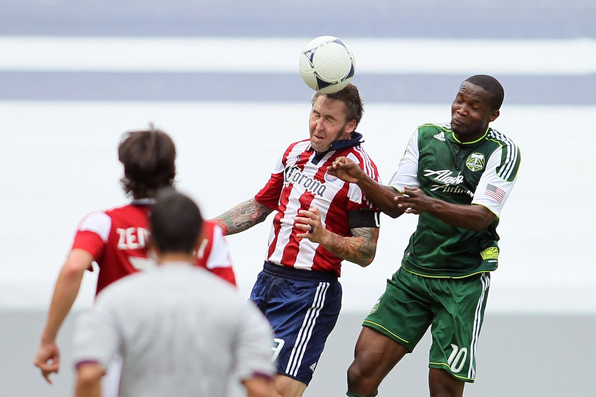 CARSON, CA - JULY 18:  Chivas won Saturday - Portland won Sunday. (Photo by Victor Decolongon/Getty Images)