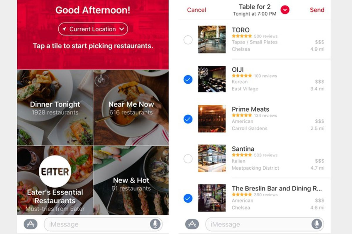 Opentable for ios 10 eases the burden of group dinner for 0pen table