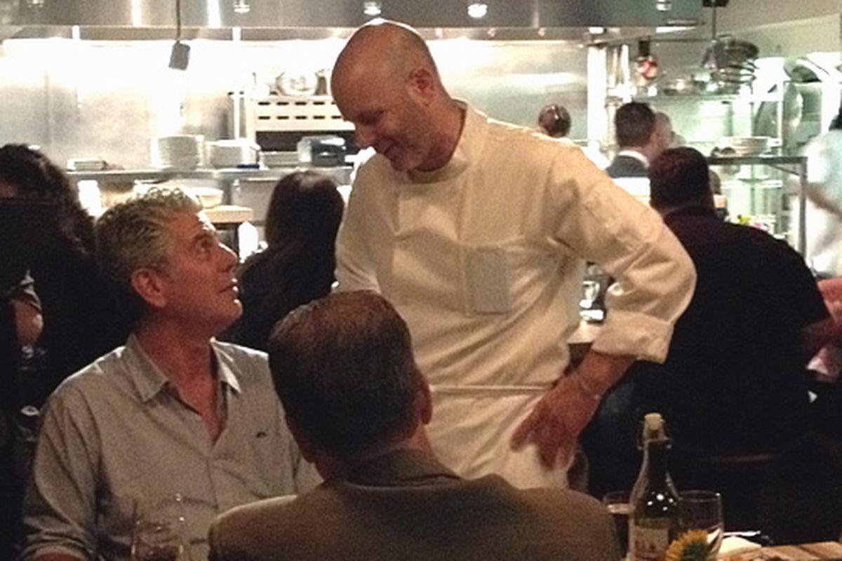 Anthony Bourdain had dinner at Amis last night