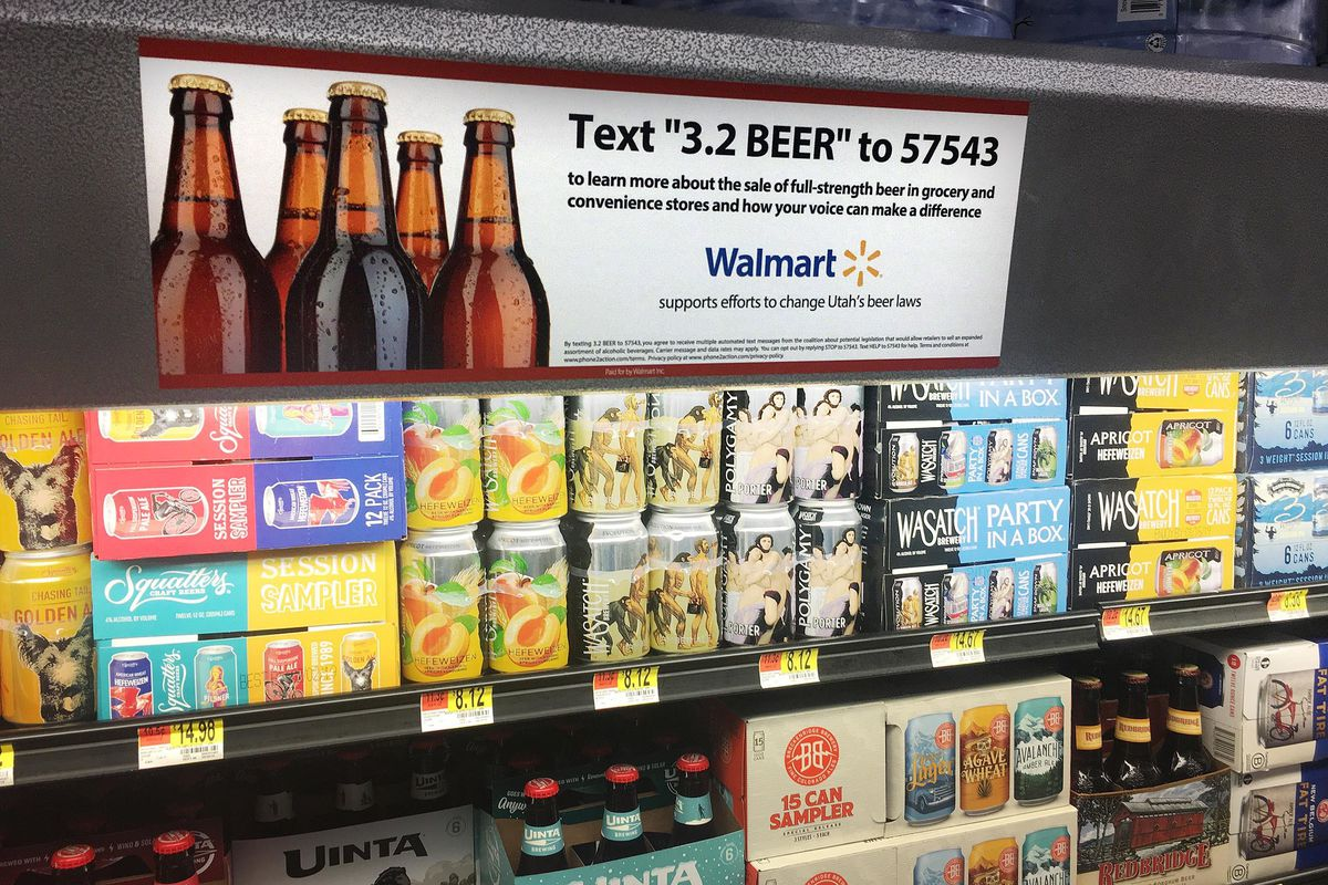 Walmart asking customers to weigh in on wether they want to get rid of 3.2 beer, pictured Wednesday, Dec. 12, 2018, in favor of heavy beer as beer manufacturers consider phasing it out.