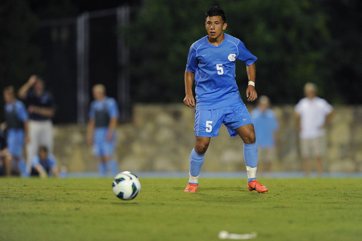 Mikey Lopez in action for UNC