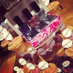 NCLA's sparkly new collection amidst themed cupcakes (which were gobbled up quickly)