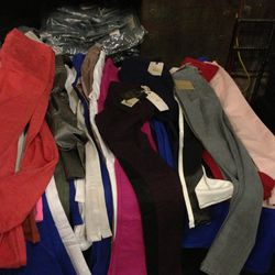 Miscellaneous colored jeans, $95