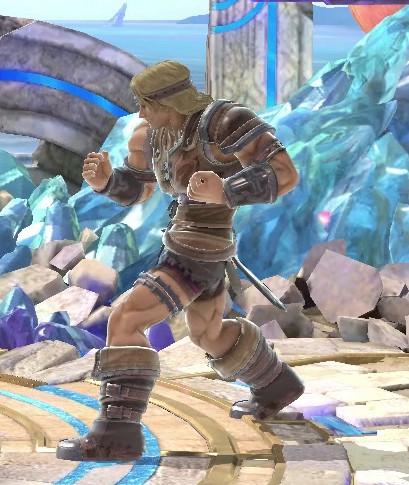Super Smash Bros. Ultimate - Simon in his trademark lunge