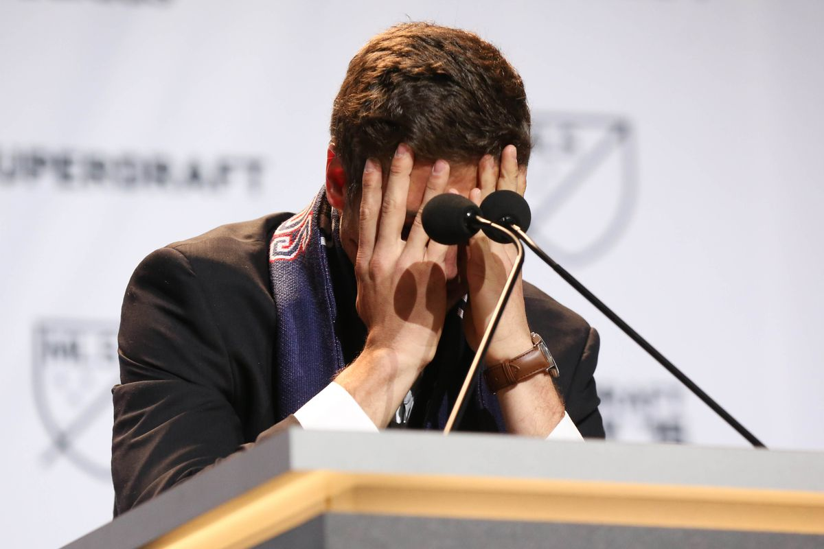 Matt Polster was overcome with emotion during his thank-you speech.