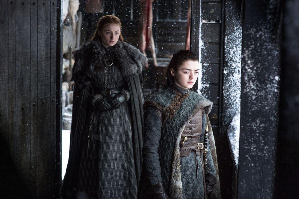 Sansa (L) and Arya in Game of Thrones season 7 episode 6