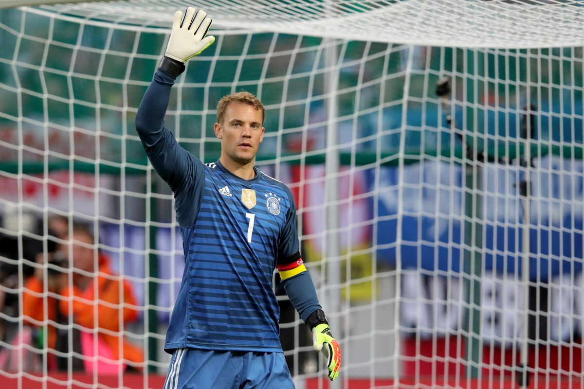 KLAGENFURT, AUSTRIA - JUNE 02: Manuel Neuer of Germany reacts during the International Friendly match between Austria and Germany at Woerthersee Stadion on June 2, 2018 in Klagenfurt, Austria.