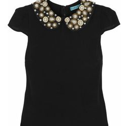 """Alice + Olivia embellished silk-stretch top, <a href=""""http://www.net-a-porter.com/product/415786"""">$330</a>"""