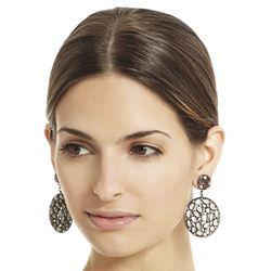 """<b>BCBG</b> Stone Disc earrings, <a href=""""http://www.bcbg.com/Stone-Disc-Earrings/JDKJE071-01R,default,pd.html?dwvar_JDKJE071-01R_color=01R&cgid=accessories-jewelry-earrings#start=2"""">$38</a>"""