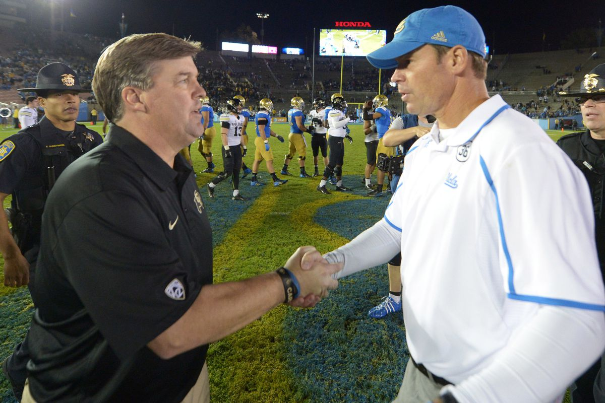 Mike McIntyre is 0-3 versus UCLA, including one game when he was coach at San Jose State.