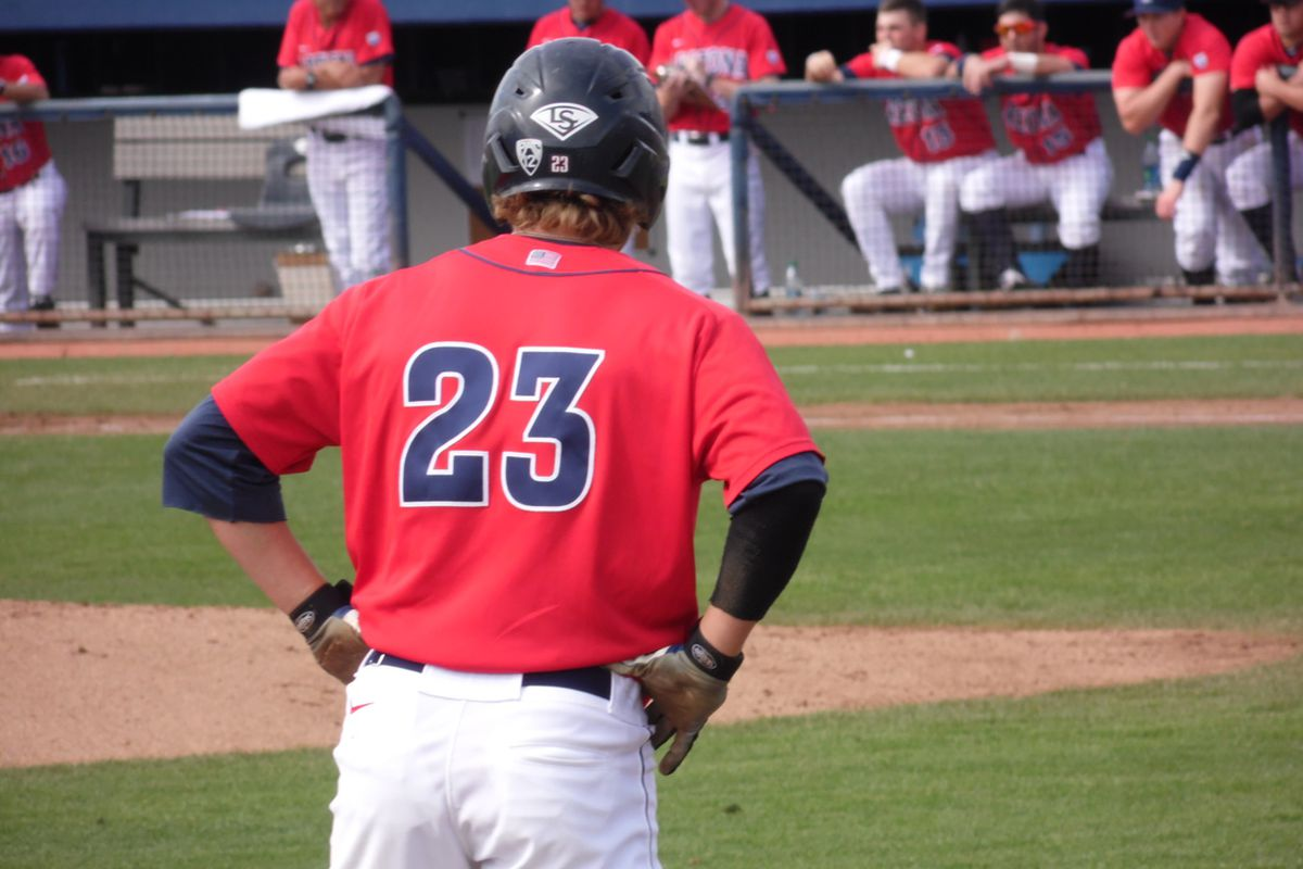 Zach Gibbons was one of many Arizona players with a big day on the bases