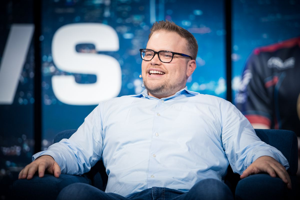 A photo of Geoff 'iNcontroL' Robinson at the 2018 WCS Finals at BlizzCon Opening Week