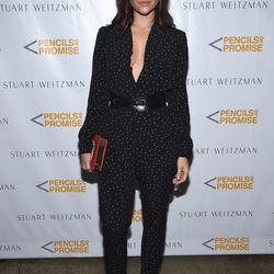 Julia Restoin Roitfeld wears the 'Nudist' sandals, the same pair as Olivia Palermo.
