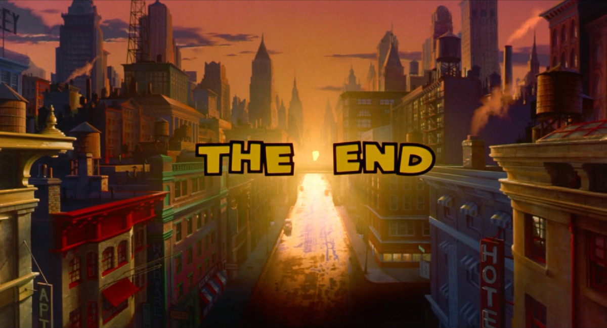 The final shot of Dick Tracy