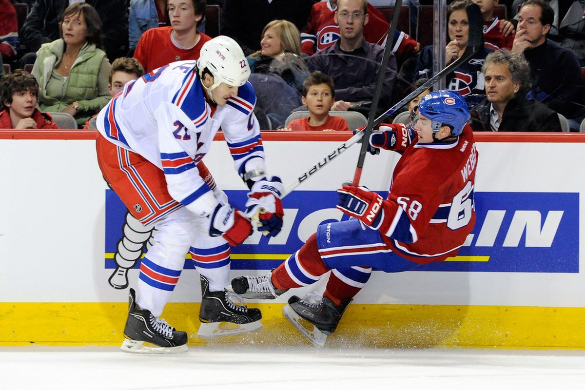 Brian Boyle - the Rangers heavy lifter for the forwards.