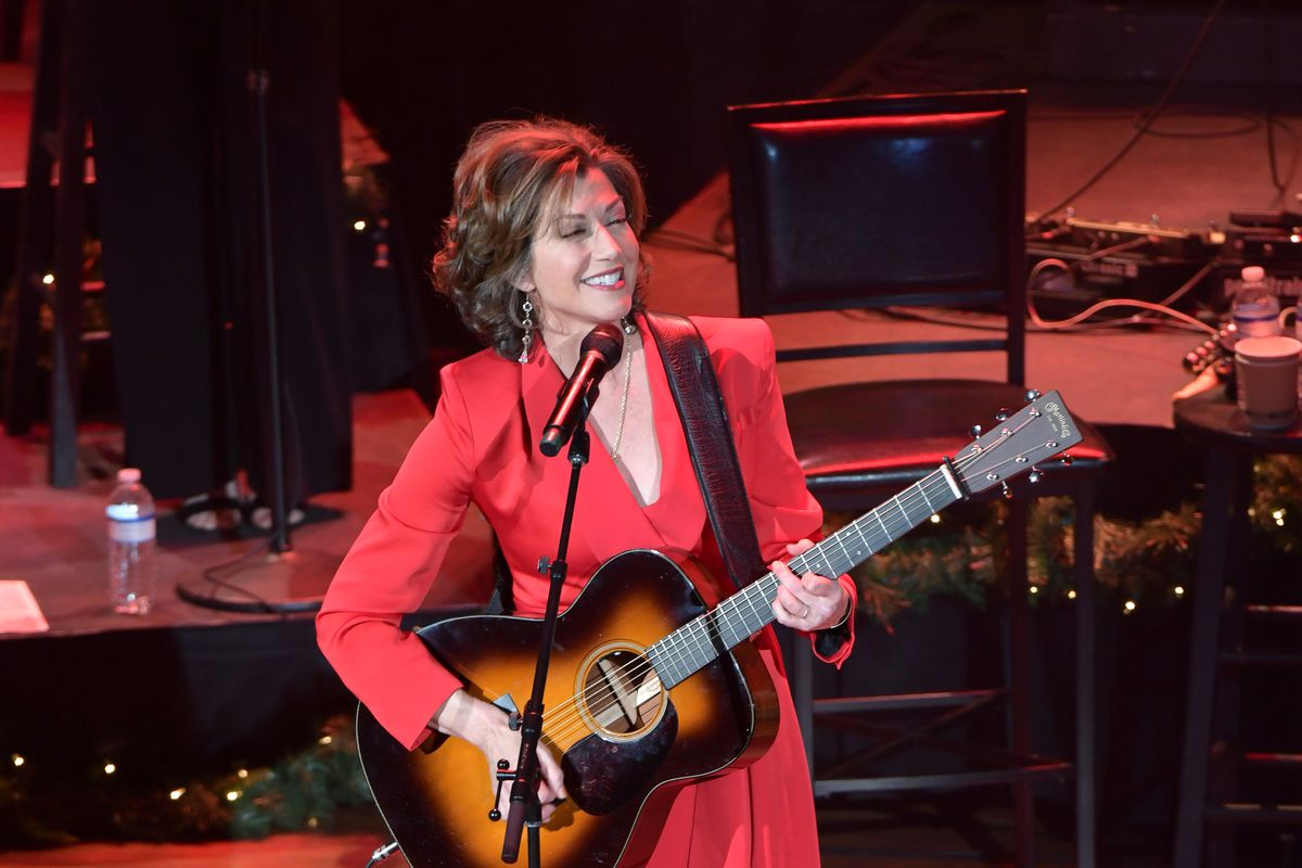 """Amy Grant performs during """"Christmas at the Ryman"""" at the Ryman Auditorium on December 11, 2019 in Nashville, Tennessee."""