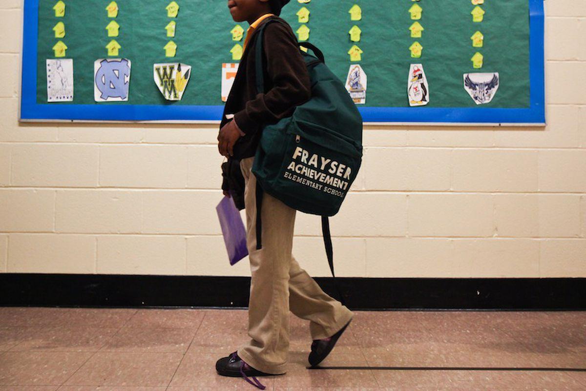 Student at Frayser Achievement Academy.