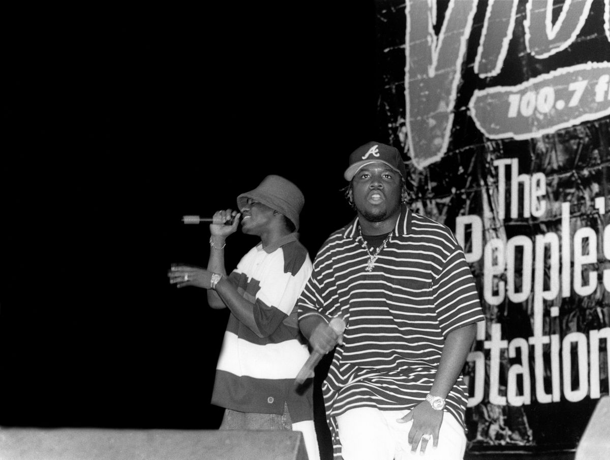 Outkast performs at the Marcus Amphitheatre in Milwaukee, Wisconsin, in 1995.