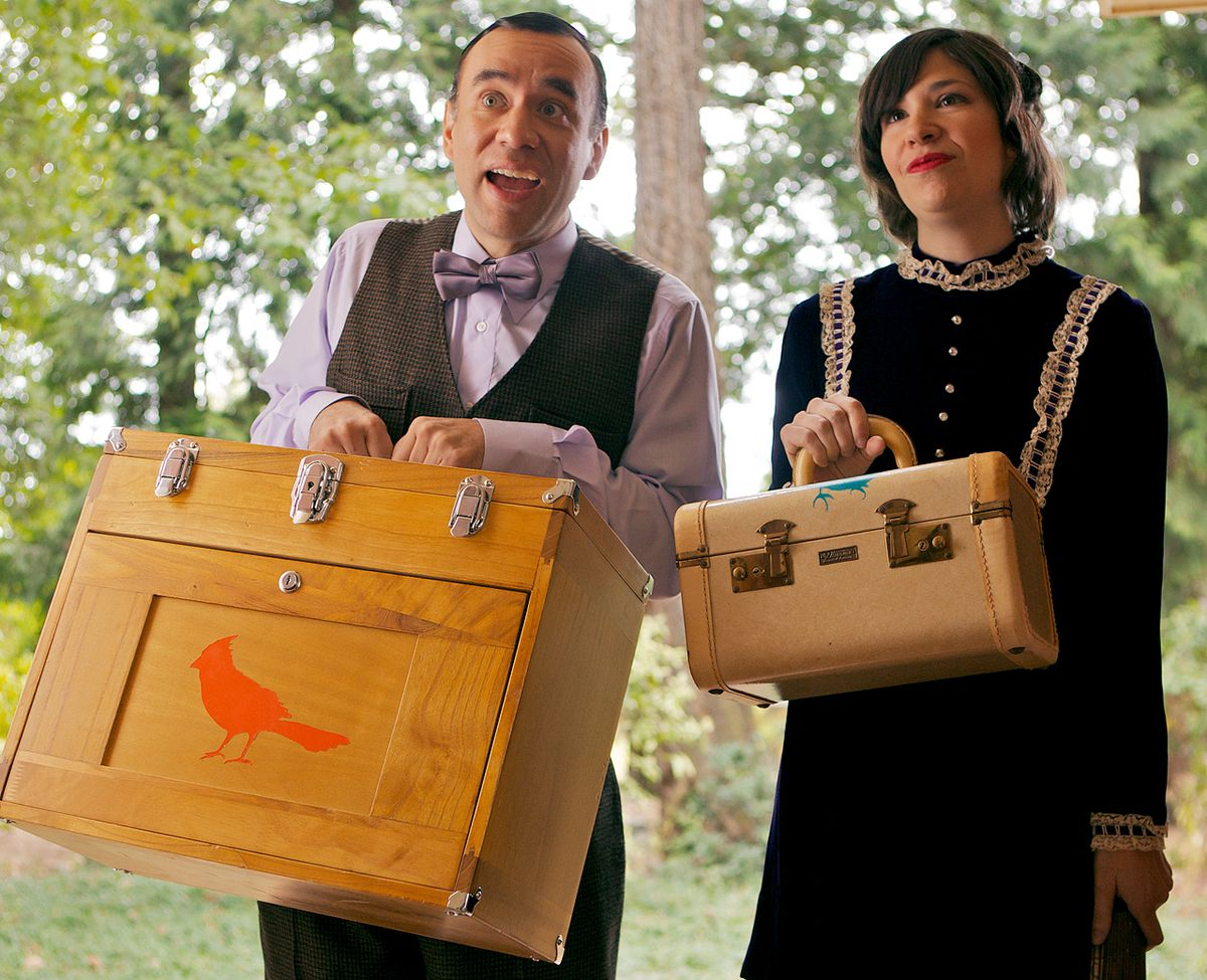 Fred Armisen and Carrie Brownstein on Portlandia.