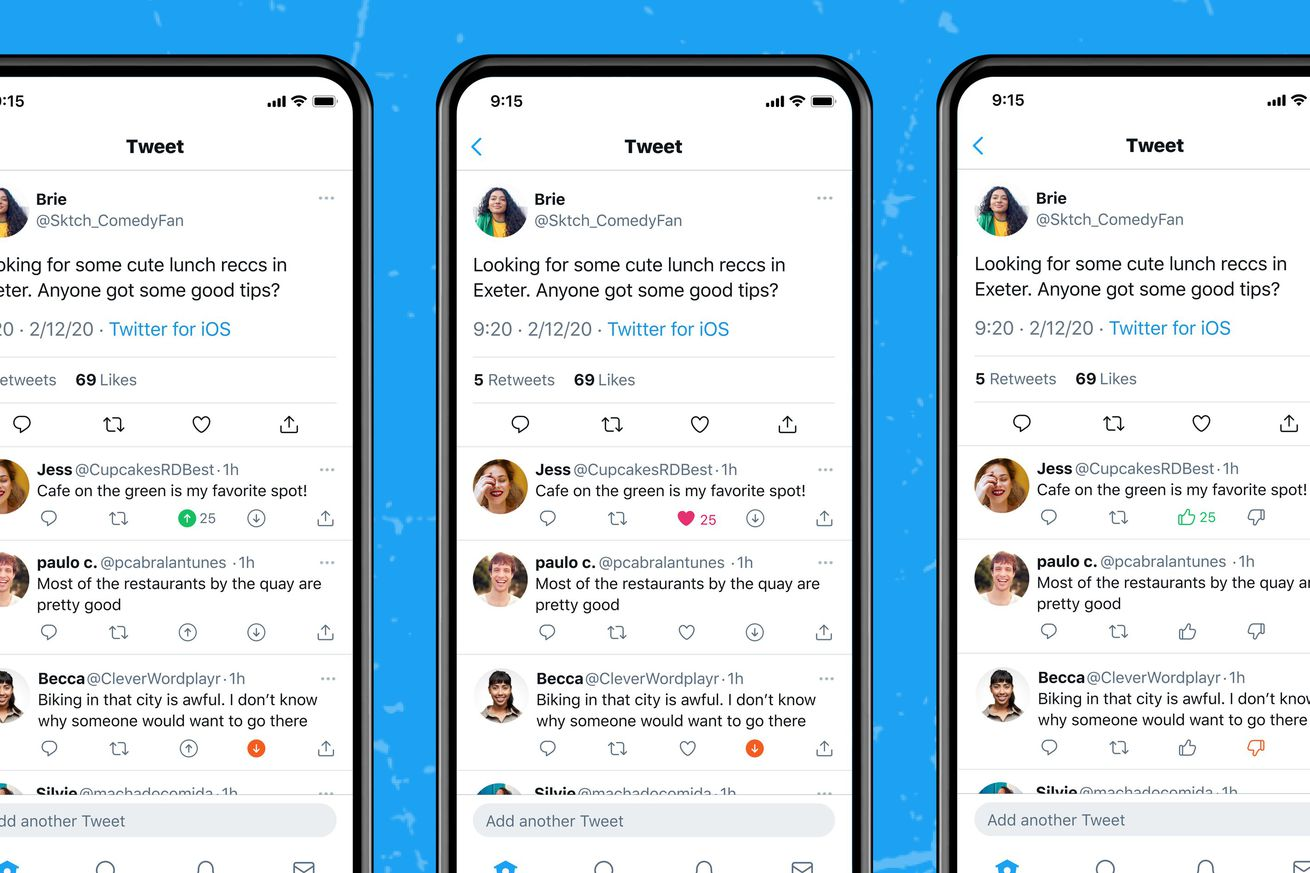 Twitter is testing upvote and downvote buttons on tweets