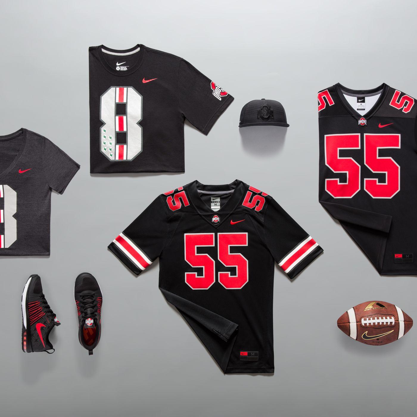 13ece6a62 Photos  Ohio State black jersey