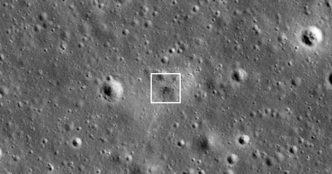 photo of NASA spacecraft spots doomed lunar lander's crash site on Moon's surface image