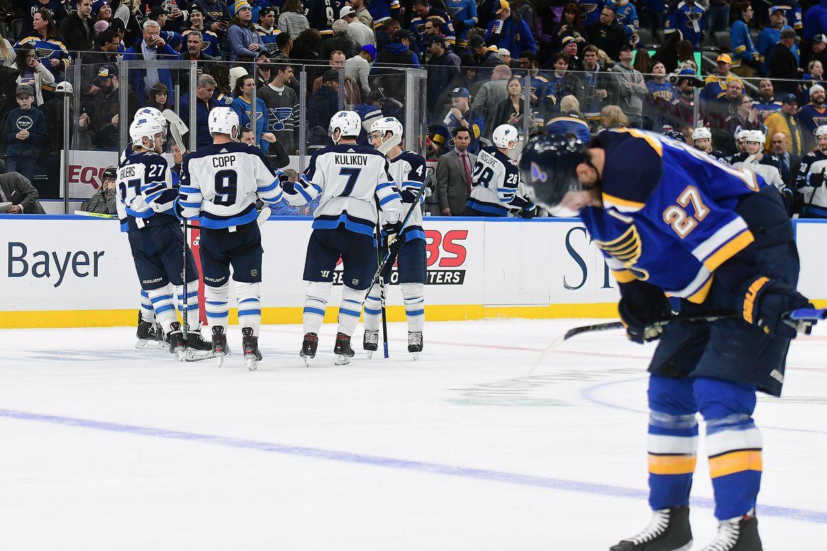 NHL: FEB 06 Jets at Blues