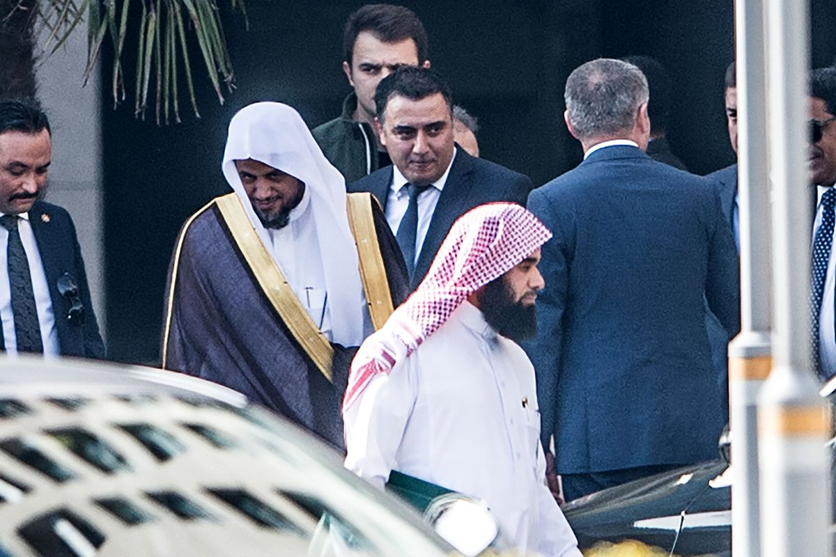 Saudi Attorney General Saud al-Mujeb leaves Caglayan courthouse in Istanbul, on October 30, 2018 in Istanbul. Saudi Arabia's chief prosecutor visited the consulate in Istanbul where journalist Jamal Khashoggi was murdered, according to an AFP journalist