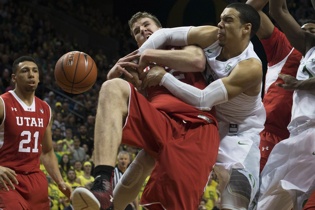 Oregon's mugging of the Runnin' Utes Sunday dropped Utah four spots in the latest AP Poll.