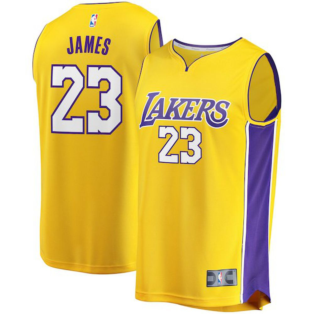 8e40904f4df LeBron James Fanatics Branded Gold Fast Break Replica Jersey – Icon Edition