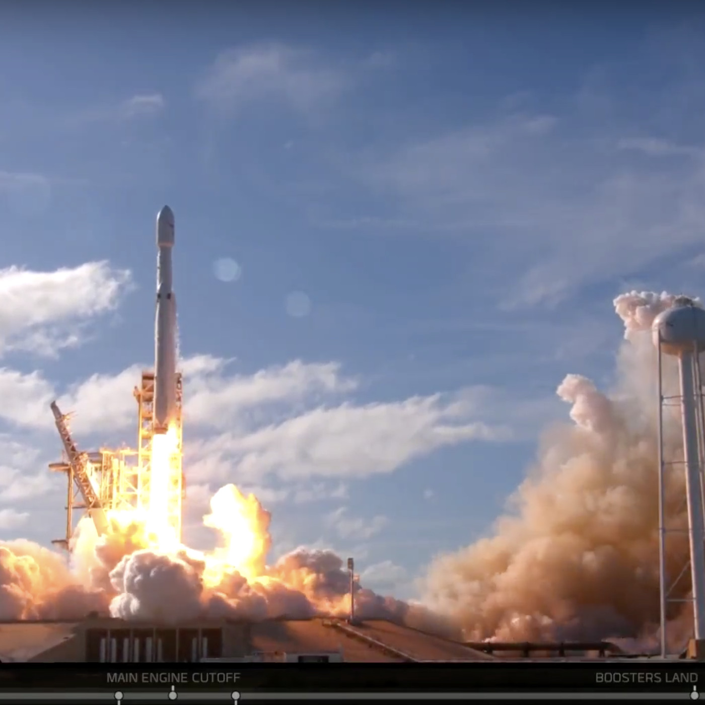 SpaceX launches its powerful Falcon Heavy rocket for the