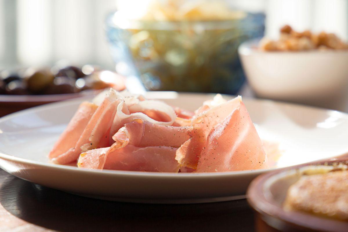 San Daniele prosciutto on the aperitivo menu at Fox & the Knife